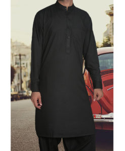 Shalwar Kameez Wash n Wear Black