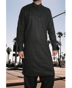Shalwar Kameez Cambric Cotton Black