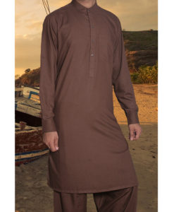 Shalwar Kameez Wash n Wear D-Brown