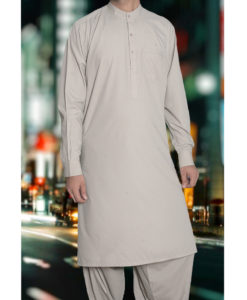 Shalwar Kameez Wash n Wear L-Brown