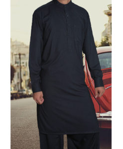 Shalwar Kameez Wash n Wear Navy Blue