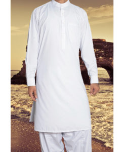 Shalwar Kameez Wash n Wear White