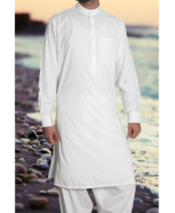 Shalwar Kameez Wash n Wear Off White